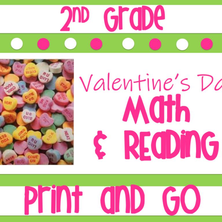Valentines Day 2nd-Grade-Math-Reading